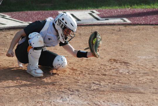 Maddie Cory is the catcher for the Calvary softball team.