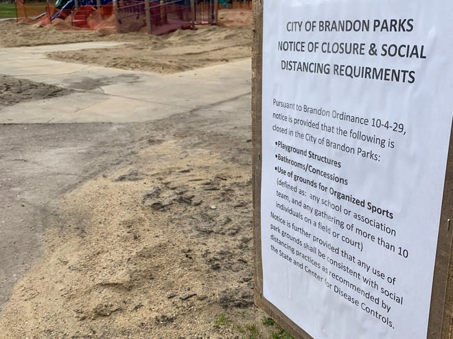 The City of Brandon closed all of its city and school playground areas due to the COVID-19 outbreak.
