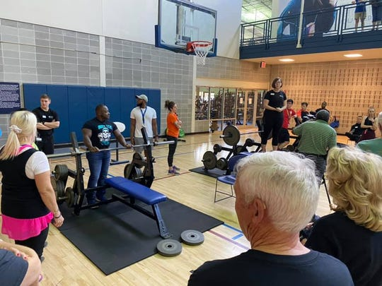 Powerlifting competition in the Capital City Senior Games.
