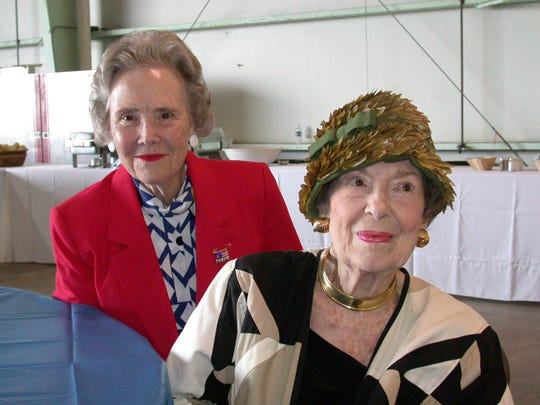 Alma Lee Loy (left) and Lucy Pope Auxier were co-owners of Alma Lee's children's clothing store until 1997.