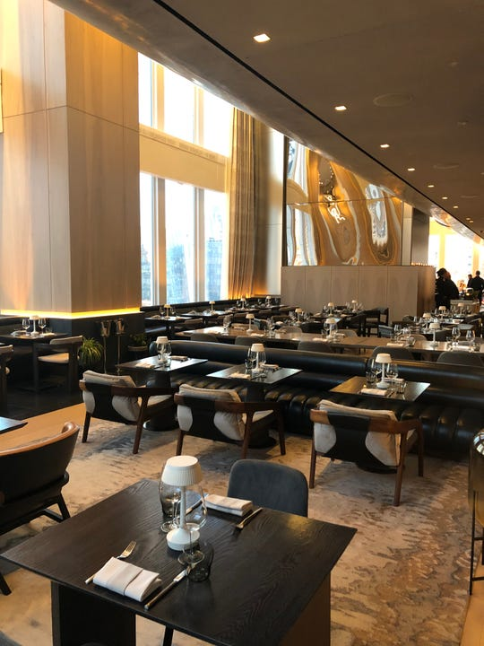 The Electric Lemon in New York City's Equinox Hotel is shown 8:30 a.m. March 16, 2020, shortly before closing over the coronavirus scare. The restaurant often had a wait list this time of the morning.