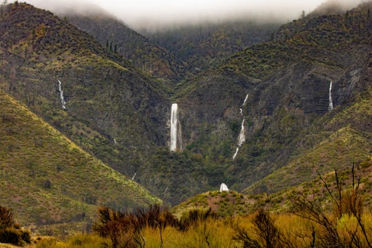 This week's rain brought waterfalls to Rose Valley, in Los Padres National Forest above Ojai, where Caltrans employee Bob Kilpatrick took stunning pictures.