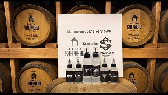 Good Shepherd Distillery in Mamaroneck is now making hand sanitizer, which it is giving away to those on the frontlines.