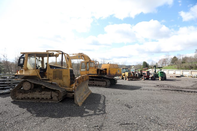 Some of the farming and construction equipment seized from Dwight Taylor's properties.
