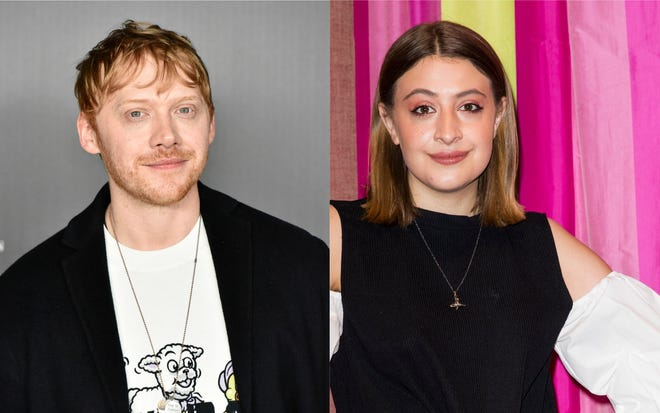 Actors Rupert Grint and Georgia Groome