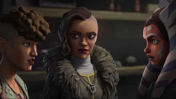 The Martez sisters learn about Ahsoka's past during this episode.