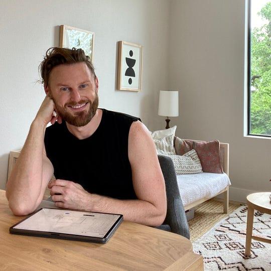 "Interior designer and ""Queer Eye"" star Bobby Berk at his Airbnb."