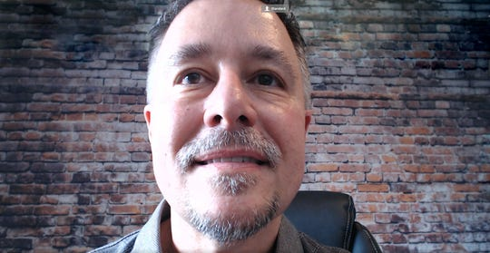 """Larry Becker, author of """"Great for the camera"""", offers an example of incorrect webcam positioning when the camera is below where you are looking."""