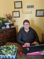 Kris Koplitz, a licensed professional counselor with Child and Adolescent Psychiatry Consulting, uses plants in her practice.