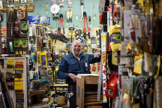 Haworth Hardware in Haworth, NJ has been a fixture in town for decades, but owner Robert Sconfienza is ready for retirement. Sconfienza has a laugh in the store on Saturday April 11, 2020.