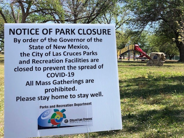 Las Cruces Police will be enforcing the closed parks mandate this weekend.