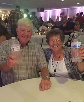 """Norman """"Nate"""" Walker, of China Township, is pictured with his wife, Frances. Walker died April 3, 2020, from complications related to the coronavirus."""