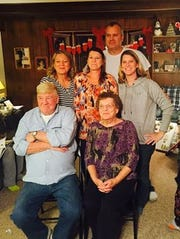 "Norman ""Nate"" and Frances Walker, front, are pictured with their children Marji Beaudry, Julie Pizzo, and Norma Pringle and husband John Pringle."