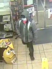 The San Angelo Police Department is seeking help from the public to identify a man who robbed the Stripes located at 1733 Pulliam Street at gunpoint just after 10 p.m. on Friday, April 10, 2020..