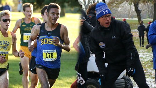 Joseph Minor-Williams (Left) and Rod DeHaven were named top male athlete and cross country coach of the year, respectively.