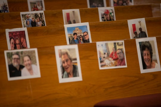 Members of the congregation at Good Shepherd Catholic Church, located on Thomasville Road, sent in photos of their families so they could be spiritually present during the three homilies during Easter weekend, Saturday, April 11, 2020.