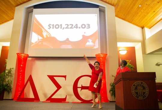 Goal was metat the  allahassee Alumnae Chapter of Delta Sigma Theta Sorority's recent scholarship fundraiser.