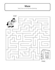 """A sample of the content inside """"Children's Activity Book"""" produced by FSU's College of Education"""