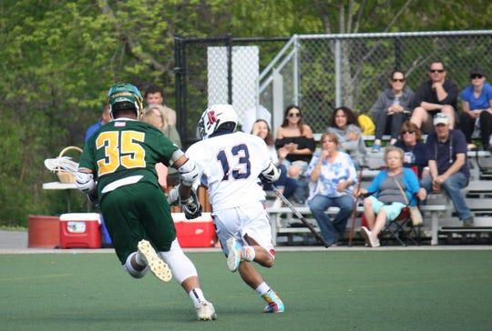 Joe Mancuso (13) is the lone four-year member of the Yonkers boys  lacrosse team.