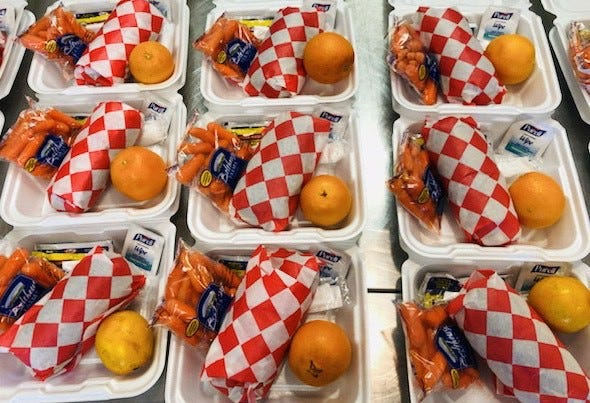 Wichita Falls ISD and Chartwells K12 began feeding students with grab-and-go meals this spring because Gov. Greg Abbott ordered school campuses closed to curb the spread of COVID-19.