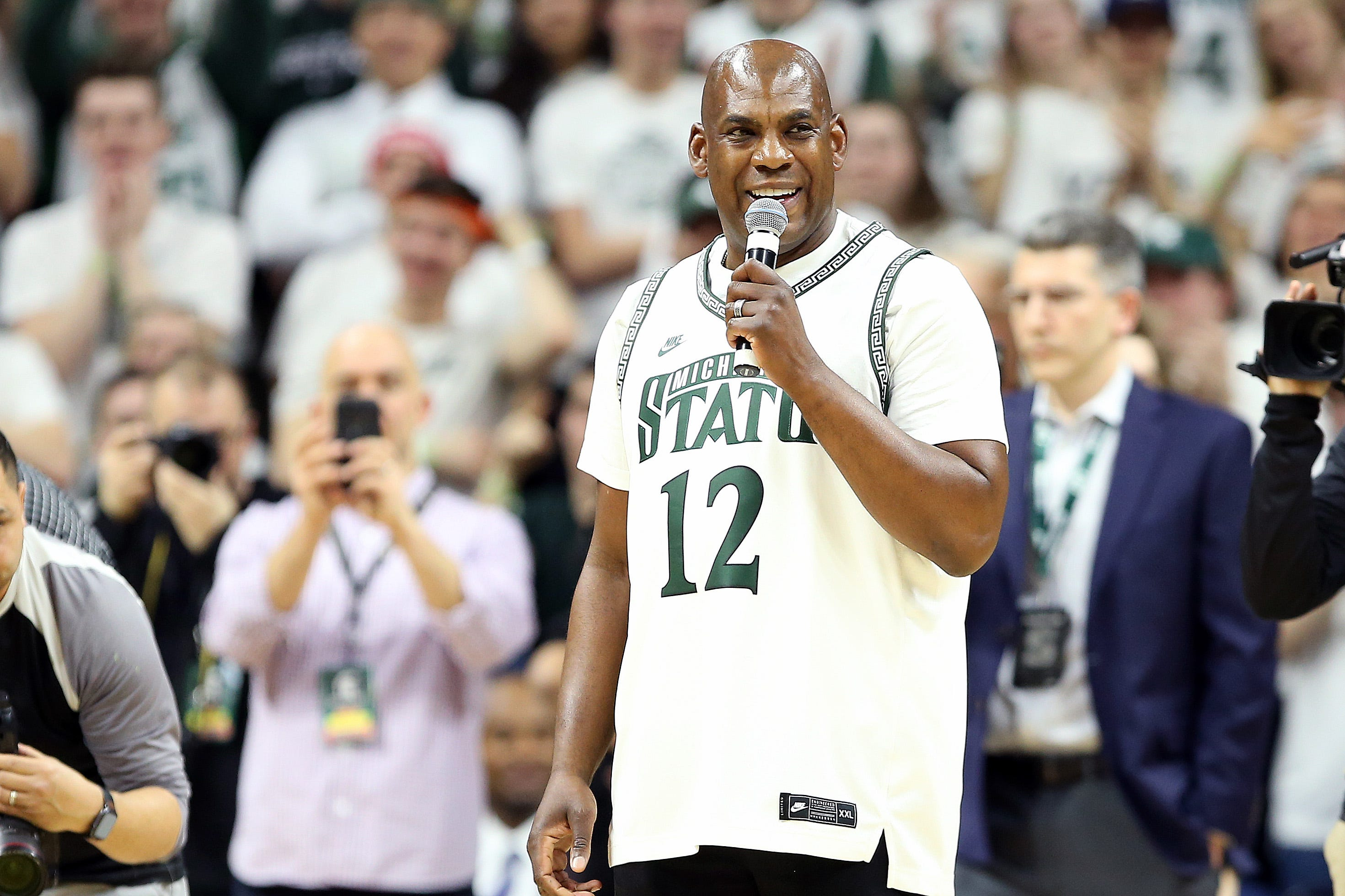 Michigan State football coach Mel Tucker buys dinner for hospital night shift workers