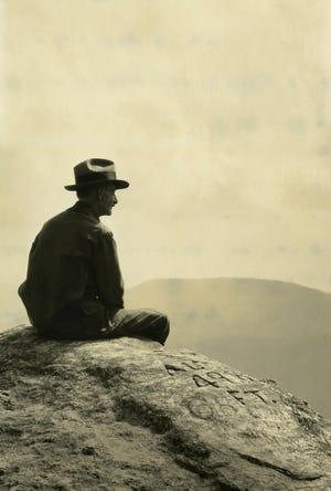 Horace Kephart  on Whiteside Mountain.
