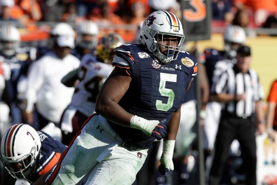 Auburn's Derrick Brown is considered one of the top defensive tackle prospects in the NFL Draft.