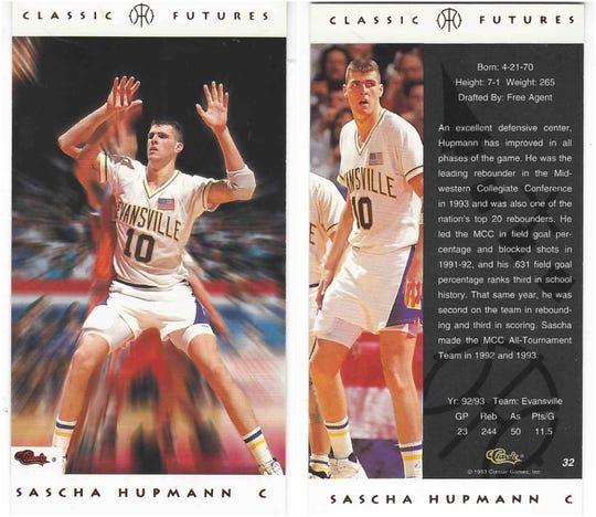 Sascha Hupmann basketball card