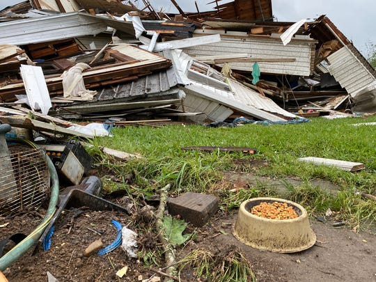 Storms and 'violent' tornadoes ripped through southern Mississippi, on Easter Sunday afternoon, killing at least 6. Early evidence indicates the tornadoes were possibly EF 4 or 5. Sunday, April 12, 2020.