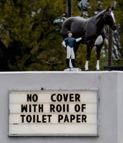A COVID horse-laugh, courtesy of Thorobred Lounge, Louisville KY
