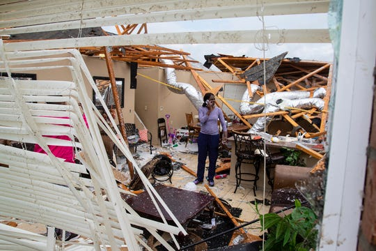 An Easter Sunday tornado ripped through the Cherry Blossom Dr. Neighborhood in Monroe, La. and caused damage to the regional airport on April 12.