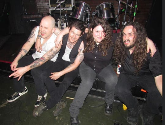 Members of V-8 Death Car are, from left, Chase Bonds, Trey Martin, Lindsey Grey and Sam Martin.