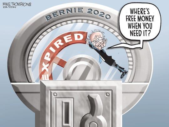 Bernie's time expired.