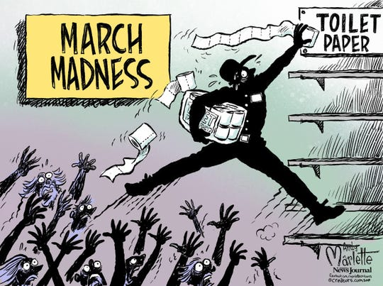 March madness: shopping for TP.