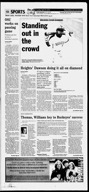 Licking Heights junior Ronnie Dawson was featured in The Advocate on the 65th anniversary of Jackie Robinson breaking the color barrier in Major League Baseball.