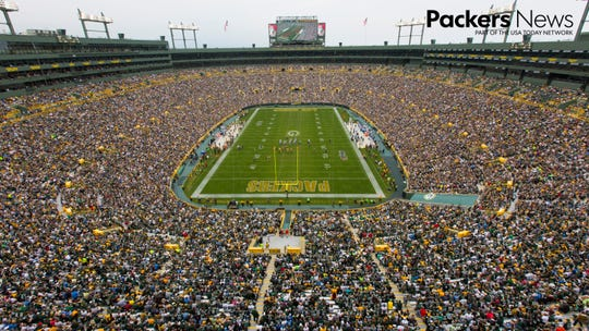 Lambeau Field during Packers game