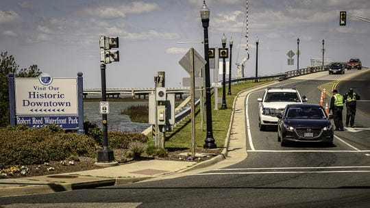 Chincoteague police have set up a  checkpoint at the corner of Maddox Boulevard and Main Street Just past the drawbridge entering into the island.