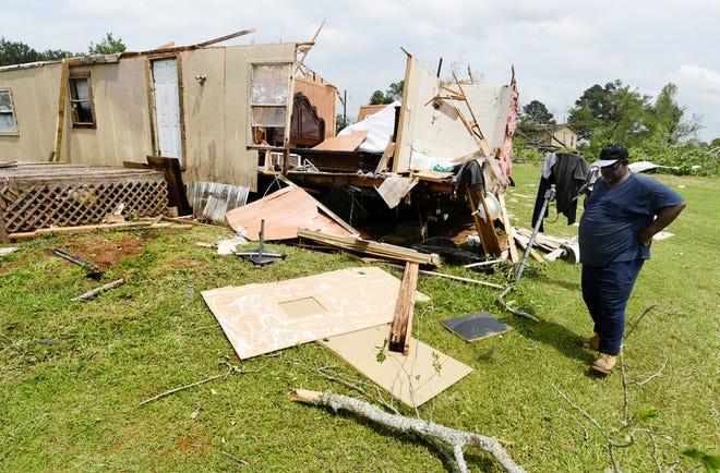 Storm damage in the Kingston-Frierson area of DeSoto Parish.