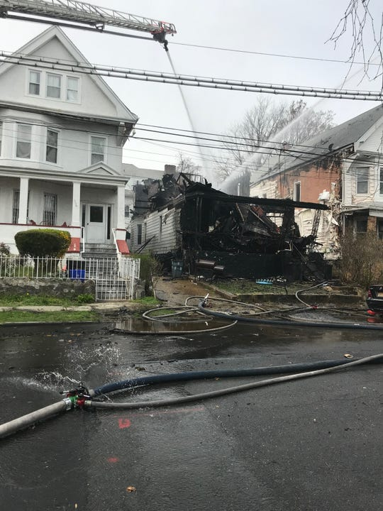 A fire in Mount Vernon on South Tenth Avenue. April 12. 2020