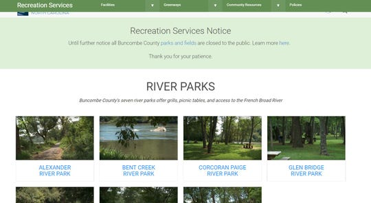While Buncombe County closed all of its parks in March because of the COVID-19 outbreak, Bent Creek River Park was scheduled to be closed for about six weeks anyway to accommodate a natural gas pipeline project.