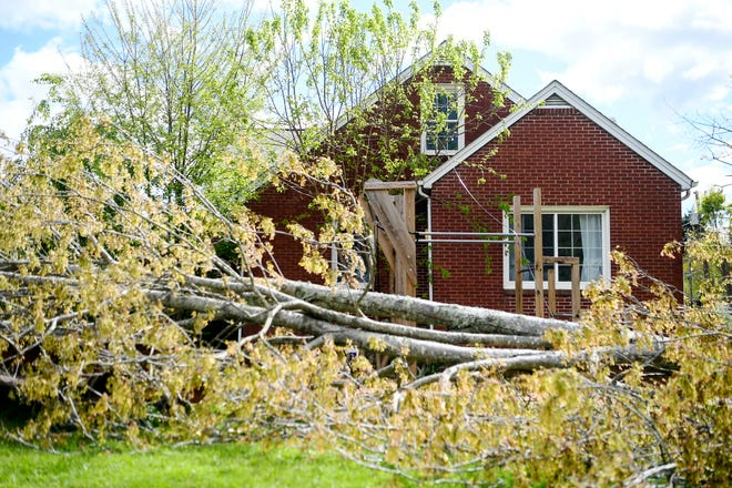 Earlier in April 2020, a storm passed through Asheville, causing damage in West Asheville.