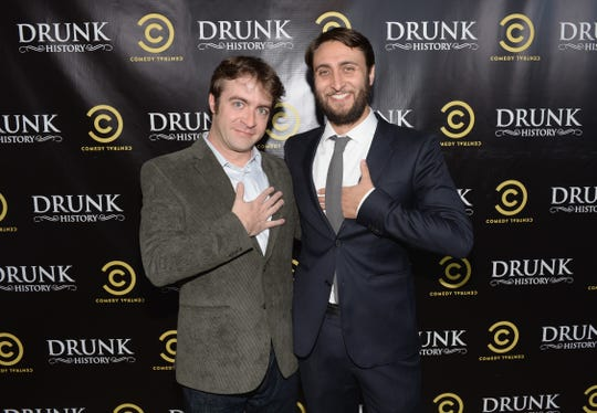 """Derek Waters and Jeremy Konner attend Comedy Central's """"Drunk History"""" Premiere Party at The Wilshire Ebell Theatre on July 8, 2013 in Los Angeles, California"""