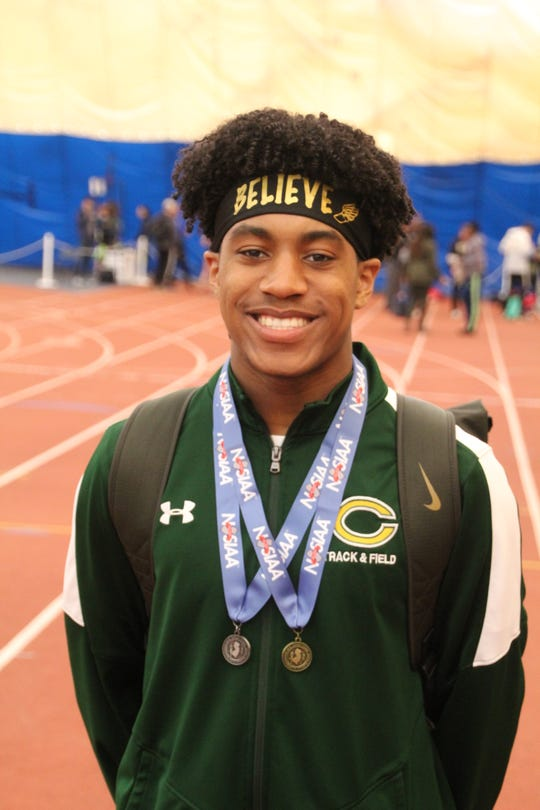 Clearview's Zion Fearon won gold in the 400 meters at the indoor South Jersey Group 3 championships this winter.