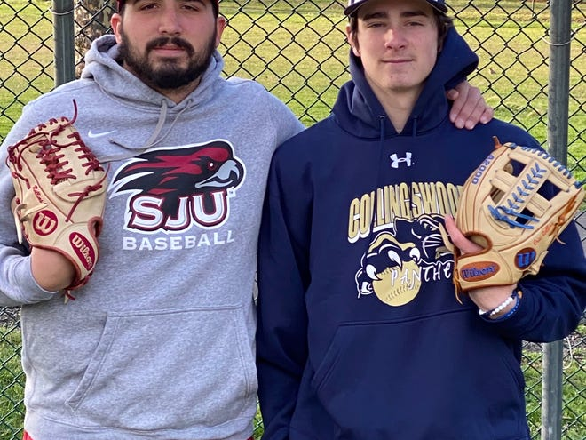 Collingswood High School senior Eric Rollins, right, and his older brother Lucas, a grad student at St. Joseph's, have become closer than ever during the coronavirus pandemic.