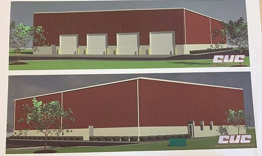 Cincinnati United Contractors will design and build Fairfield Township's first building specifically for its service department shown in this rendering at a cost not to exceed $2.5 million.