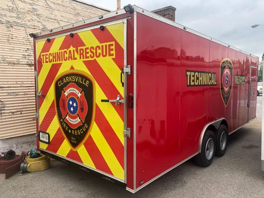 Clarksville Fire Rescue has anew technical rescue trailer made fortrench rescue, confined space and structural collapse incidents.
