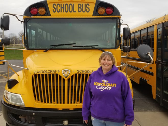 School bus driver Bobbie Jo McMillan will receive professional development training from Schoolcraft Community Schools this week so she can transition into her new role as a 'coach' for students in her district's elementary school as part of Schoolcraft's new distance learning plan for K-12 students.