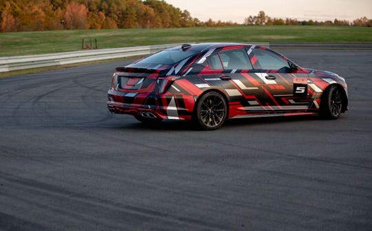 The Cadillac CT5-V Blackwing will likely carry a 650-horse, 6.2-liter V-8 in its belly - a carryover from the Caddy CTS-V.