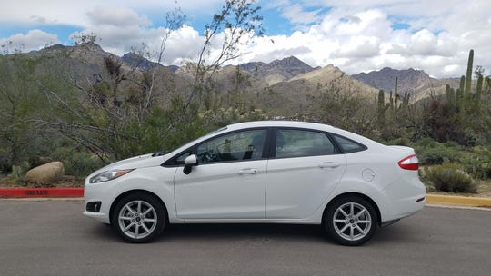 The 2017-2019 Ford Fiesta SE gets alloy wheels which are good looking - and affordable on a $10k used car.