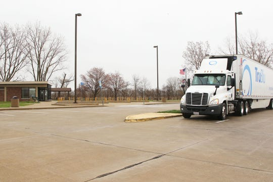 Ottawa County's only rest area located on Ohio 2 near Port Clinton had light traffic on Monday.